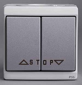 ENN35742 Выключатель для жалюзи, авт., блокир., в сборе серый IP55