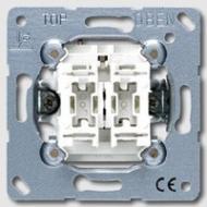 EP405U/1WW EcoProfi Бел Выключатель 2-клавишный ( в сборе, без рамки)