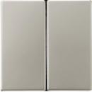 ES1565.07 LS 990 EdelstahlНакладка светорегулятора 2-х канального нажимного