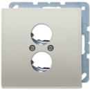 ES2962-2 LS 990 Edelstahl Крышка для 2х акустических гнезд