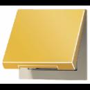 GO2990KL LS 990 Блеск золота Откидная крышка для розеток и изделий с платой 50х50 мм