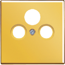 GO2990SAT LS 990 Блеск золота Накладка TV-FM-SAT розетки