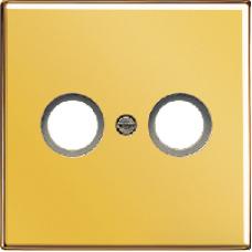 GO2990TV LS 990 Блеск золота Накладка TV-FM розетки