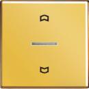 GO5232 LS 990 Блеск золотаНакладка нажимного электронного жалюзийного выключателя