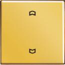 GO5232F LS 990 Блеск золотаНакладка нажимного электронного жалюзийного выключателя с ДУ (радио)