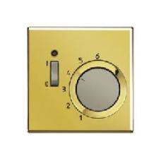 GOTR231PL LS 990 Блеск золотаНакладка термостатакомнатного с выключателем(мех TR231U,TR241U)