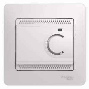 GSL000138 GLOSSA ТЕРМОСТАТ электрон.теплого пола с датчиком,от+5до+50°C,10A,в сборе, БЕЛЫЙ
