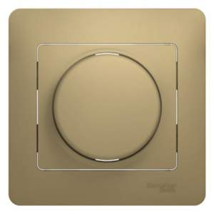 GSL000436 GLOSSA СВЕТОРЕГУЛЯТОР (диммер) универсальный, 600Вт/ВА, в сборе, ТИТАН