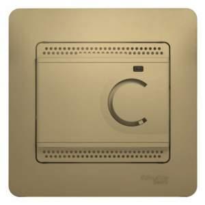 GSL000438 GLOSSA ТЕРМОСТАТ электрон.теплого пола с датчиком,от+5до+50°C,10A,в сборе, ТИТАН