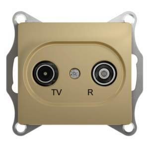 GSL000495 GLOSSA TV-R РОЗЕТКА проходная 4DB, механизм, ТИТАН