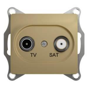 GSL000498 GLOSSA TV-SAT РОЗЕТКА проходная 4DB, механизм, ТИТАН
