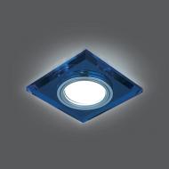Светильник Gauss Backlight BL061 Квадрат. Синий/Хром, Gu5.3, LED 4100K 1/40