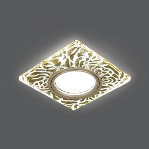 Светильник Gauss Backlight BL063 Квадрат. Золотой узор/Золото, Gu5.3, LED 2700K 1/40