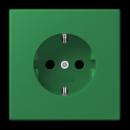 LC1520KI32050 LS 990 Vert fonce(32050) Розетка с/з с защ штор, безвинт зажим