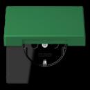 LC1520KIKL32050 LS 990 Vert fonce(32050) Розетка с/з с защ штор с крышкой безвинт зажим