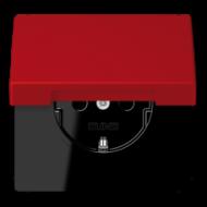 LC1520KIKL32090 LS 990 Rouge vermillon 31(32090) Розетка с/з с защ штор с крышкой безвинт зажим