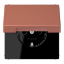 LC1520KIKL32121 LS 990 Terre sienne brique(32121) Розетка с/з с защ штор с крышкой безвинт зажим