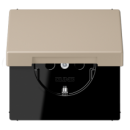 LC1520KIKL32142 LS 990 Ombre naturelle claire(32142) Розетка с/з с защ штор с крышкой безвинт зажим