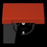 LC1520KIKL4320A LS 990 Rouge vermillon 59(4320A) Розетка с/з с защ штор с крышкой безвинт зажим