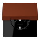 LC1520KIKL4320D LS 990 Terre sienne brulee 59(4320D) Розетка с/з с защ штор с крышкой безвинт зажим