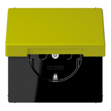 LC1520KIKL4320F LS 990 Vert olive vif(4320F) Розетка с/з с защ штор с крышкой безвинт зажим