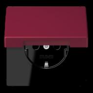 LC1520KIKL4320M LS 990 Le rubis(4320M) Розетка с/з с защ штор с крышкой безвинт зажим