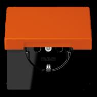 LC1520KIKL4320S LS 990 Orange vif(4320S) Розетка с/з с защ штор с крышкой безвинт зажим