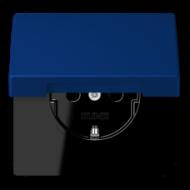 LC1520KIKL4320T LS 990 Bleu outremer fonce(4320T) Розетка с/з с защ штор с крышкой безвинт зажим