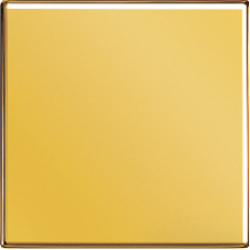 LS1561.07FGGO LS 990 ЗолотоНакладка светорегулятора/выключателя нажимного с ДУ (радио)