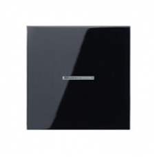 LS1561.07USW LS 990 ЧерныйНакладка светорегулятора/выключателя нажимного с индикацией