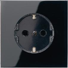 LS520KISW LS 990 ЧерныйРозетка с/з с защитными шторками безвинт зажим
