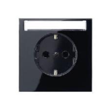 LS520NASW LS 990 ЧерныйРозетка с/з с полем для надписи безвинт зажим