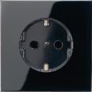 LS520SW LS 990 ЧерныйРозетка с/з безвинт зажим