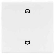 LS5232FLG LS 990 Светло-серыйНакладка нажимного электронного жалюзийного выключателя с ДУ (радио)