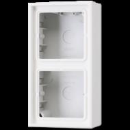 LS582AWW LS 990Бел Коробка для накладного монтажа 2-кратная