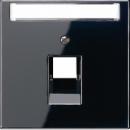 LS969-1NAUASW LS 990 Черный Накладка 1-ой наклонной ТЛФ/комп розетки с полем для надписи