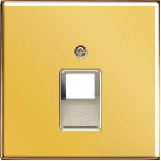 LS969-1UAGGO LS 990 Золото Накладка 1-ой наклонной ТЛФ/комп розетки