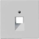 LS969-1UALG LS 990 Светло-серый Накладка 1-ой наклонной ТЛФ/комп розетки