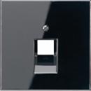 LS969-1UASW LS 990 Черный Накладка 1-ой наклонной ТЛФ/комп розетки