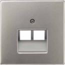 LS969-2UALG LS 990 Светло-серый Накладка 2-ой наклонной ТЛФ/комп розетки
