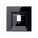 LS969TSW LS 990 Черный Крышка для ТАЕ-розетки,моно/стерео-аудиорозетки,комбинированной вставки