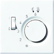 LSTR231PLWW LS 990 БелНакладка термостатакомнатного с выключателем(мех TR231U,TR241U)