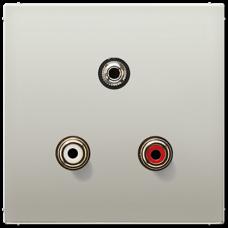 MAES1011 LS 990 Edelstahl Аудио Разъем (RCA) / Stereo Jack (TRS 3.5 mm)