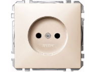 MTN2000-4044 SD Беж Розетка 1-ая б/з с защитными шторками (термопласт) винт.зажим