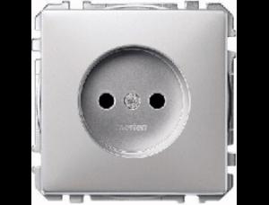 MTN2000-4060 SD Алюминий Розетка 1-ая б/з с защитными шторками винт.зажим