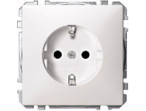 MTN2300-4019 SD Бел Розетка 1-ая с/з с защитными шторками (термопласт) безвинт.зажим
