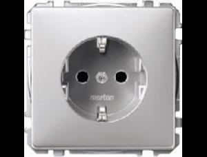 MTN2300-4060 SD Алюминий Розетка 1-ая с/з с защитными шторками безвинт зажим