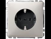 MTN2300-4146 SD Сталь Розетка 1-ая с/з с защитными шторками безвинт.зажим