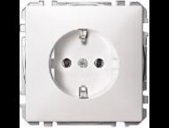 MTN2301-4019 SD Бел Розетка 1-ая с/з (термопласт) безвинт.зажим