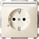 MTN2303-4044 SD Беж Розетка 1-ая SCHUKO с полем для надписи и индикацией